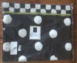 mackenzie childs dotty courtly check black white bath mat rug