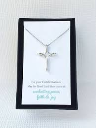 confirmation cross necklace confirmation gifts for by amyohandmade catholic confirmation gifts religious gifts religious