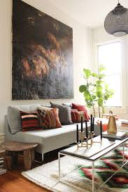 designs ideas interior design with large wall art idea and grey sofa also small coffee