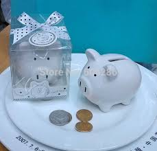 30pcs lot christening baptism gifts ceramic mini piggy bank coin box with polka dot