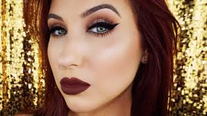view in gallery dramatic cat eye and dark lips
