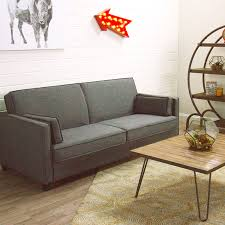 Charcoal Gray Nolee Folding Sofa Bed | World Market