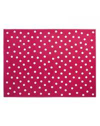 lorena cs dots rug fushia white loading zoom