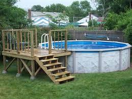 square above ground pool. Square Above Ground Pools Small Pool Deck Plans R