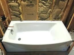 bathtub right drain standard ovation 5 ft right drain bathtub in arctic white at the home