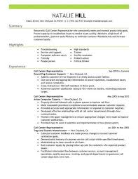 Sample Resume For Call Center