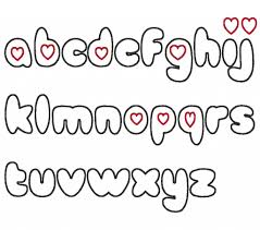 cute bubble font alphabet wall graffiti art