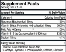5 hour energy nutrition facts