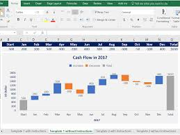 Waterfall Chart Templates In Excel Ppt By Ex Deloitte