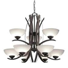 9 light bronze chandelier throughout and 8 installation allen roth candle 4