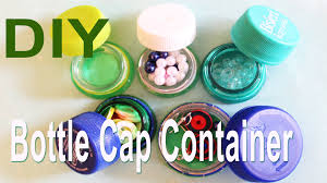 Diy Water Bottle Recycle Diy Mini Bottle Cap Container Youtube
