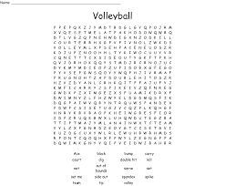 Volleyball Word Volleyball Word Search Wordmint