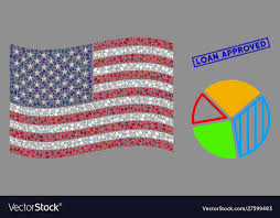 American Flag Stylized Composition Pie Chart