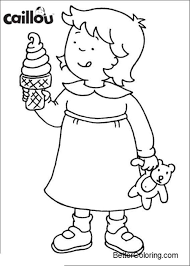 Caillou Coloring Pages Ice Cream Free Printable Coloring Pages