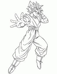 Dragon Ball Z Super Saiyan Coloring Pages At Getdrawingscom Free