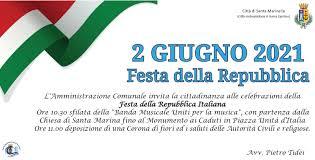 2 GIUGNO 2021 FESTA DELLA REPUBBLICA | Comune di Santa Marinella