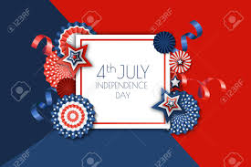 4th Of July Usa Independence Day Vector Banner Template Color