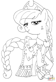 Small Picture Princess Applejack coloring page Free Printable Coloring Pages