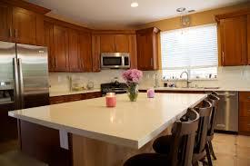 Mocha Shaker Kitchen Cabinets Mocha Shaker Cabinets Beige Quartz Countertops Castaic
