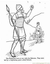 David Y Goliath Colouring Pages Coloring Home