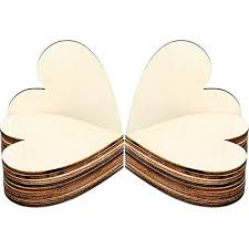 details about 3 15 inch wood hearts slices wooden discs shaped embellishment for wedding arts