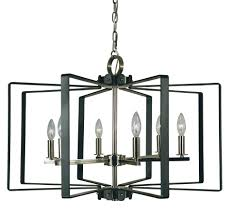 6 light polished nickel matte black camille chandelier f 3055 pn mblack elite fixtures
