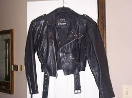 old school las wilsons leather motorcycle jacket chp style sz m cropped