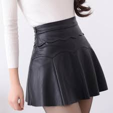 product images gallery high quality leather skirt