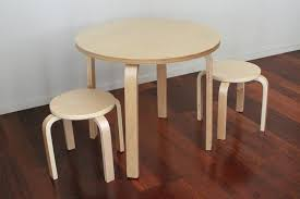 round kid table wooden kids table 2 stools kid table and chairs target