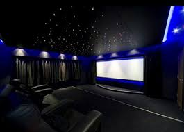 movie room lighting. Luxury Home Theater Design With Neon Blue Walls Movie Room Lighting S