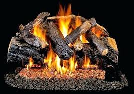 faux fireplace logs gas artificial birch vent free log set