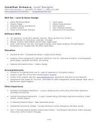 Classy Game Designer Resume Example On 100 Sample Game Design
