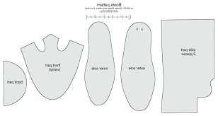 Santa Boot Template Exclusive Sneaker Pattern Template Shoe Templates Drawing