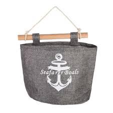 navy wall hanging storage bag jute sundries organizer closet bag anchor us 3 38 ping newfrog com