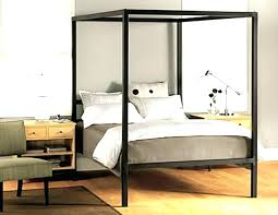 Full Size Canopy Bed Frame Black Canopy Bed Frame Full Size Canopy ...