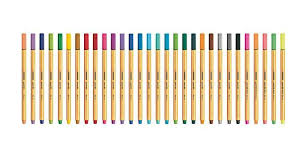 Stabilo Point 88 Fine Liner Pens 30 Colors Stationery Markers Drawing 0 4mm
