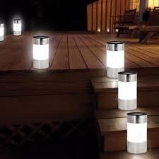 lighting set. 6x SOLAR POWERED Floor Garden Light Outdoor Patio/Path/Driveway Lighting Set