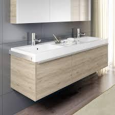 Doppelter Waschtisch Unterschrank Hängend Holz Modern Andora