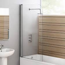 modern 6mm shower screen frameless bath door 180 pivot panel with rubber seal