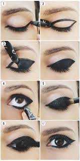 step 6 refine any lines to make the eyeliner thicker to plete the look apply mascara curling your eyelashes will help open up your eyes and really