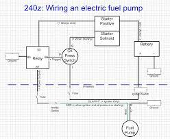 fuel pump relay switch wiring diagram car wiring diagram download Electric Fuel Pump Wiring Diagram electric fuel pump install electrical classic zcar club fuel pump relay switch wiring diagram fuel fuelpumpschematic_v2 jpg wiring diagram for electric fuel pump