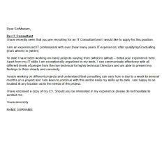 It Consultant Cover Letters It Consultant Cover Letter Example Icover Org Uk