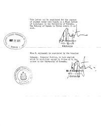 personal documents ian canadian oral history confirmation by the canadian embassy consular section in tehran that miss eshrat arj di is proficient