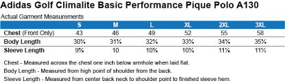 Adidas Polo Size Chart Scratch Adidas Golf Climalite Basic Performance Pique Polo