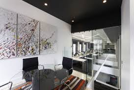 interior contemporary black modern office. Office:Contemporary Minimalist Office Room Design With Clear Glass Doors And Built In Wall Shelves Interior Contemporary Black Modern