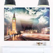 big ben from westminster bridge cityscape photo glossy metal wall art on big ben metal wall art with big ben from westminster bridge cityscape photo glossy metal wall