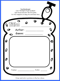 Free Book Report Templates Sandwich Book Report Project Templates Printable Worksheets And