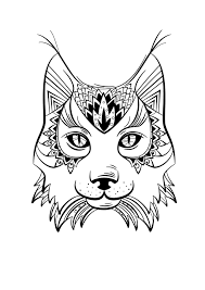 Coloriage Animaux Lynx Manualidades Pinterest Coloriage