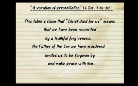 a vocation of reconciliation cor a table talk from 5 14 21 through the lenses of stanley hauerwas essay peacemaking the virtue of the church