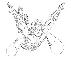 nightwing coloring pages color bros